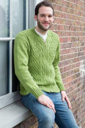 Knitted men's varsity jacket