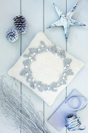 Mistletoe Cushion Crochet Pattern