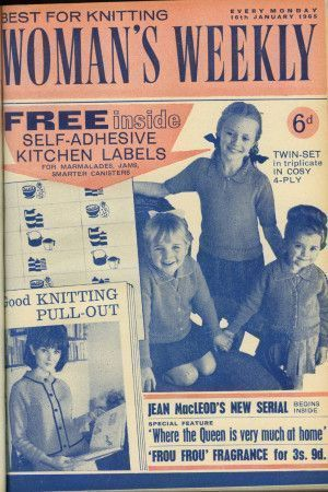 Cover of 1960s Woman's Weekly featuring retro children's sweater and jacket