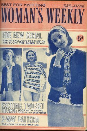Cover of 1960s Woman's Weekly featuring retro women's sweater and jacket