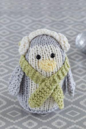 Penguin Decoration Knitting Pattern