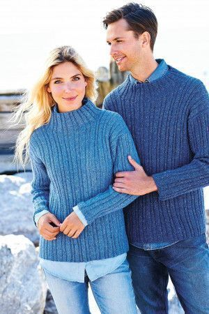 Knitted unisex jumpers for men and women
