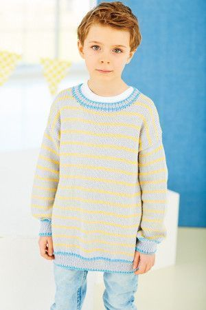 Round neck striped boy's jumper