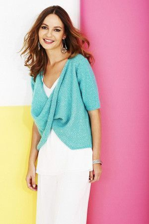 ladies cross over knitted top