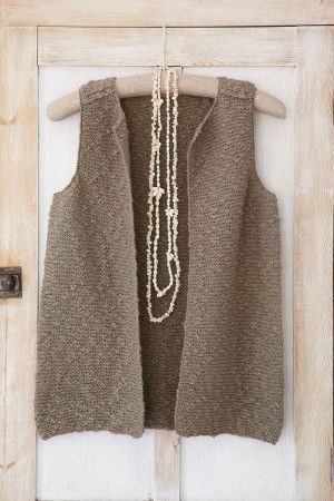 Easy-to-knit ladies' gilet