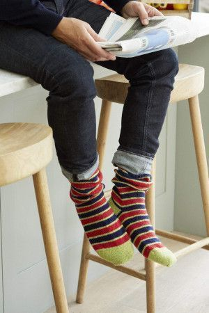 mens striped knitted socks
