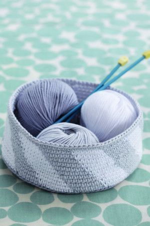 Striped pattern small crochet bowl