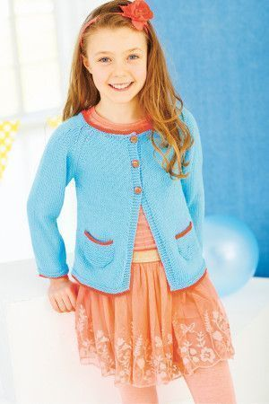 Knitted summer cardigan for girls