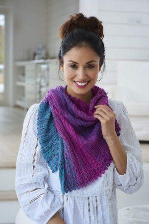 colour change triangle shawl knitting pattern