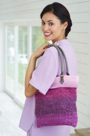 ombre effect knitted shoulder bag