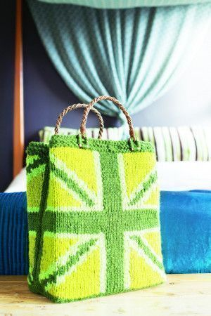 Tote bag with Union Jack pattern