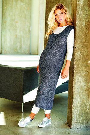 Ladies' mesh dress made using vintage knitted pattern
