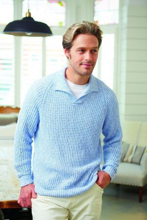 Textured vintage men's jumper with a collar