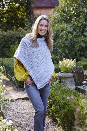 simple knitted poncho pattern