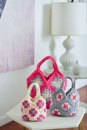 Crochet Bag in Three Sizes
