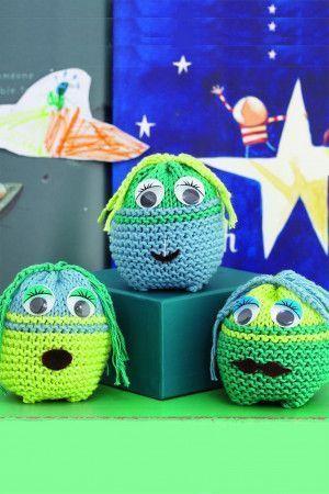 Small soft toy alien for children