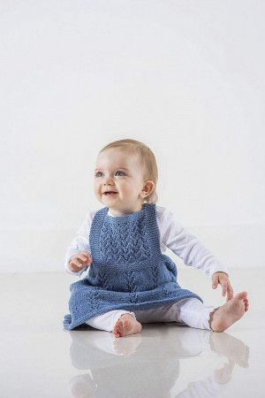 Baby Pinafore Dress Knitting Pattern