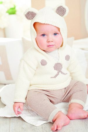 Baby Polar Bear Jumper Knitting Pattern