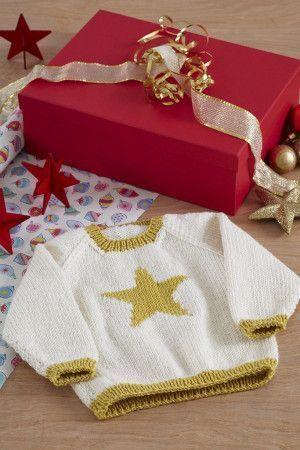 Baby Star Jumper Knitting Pattern