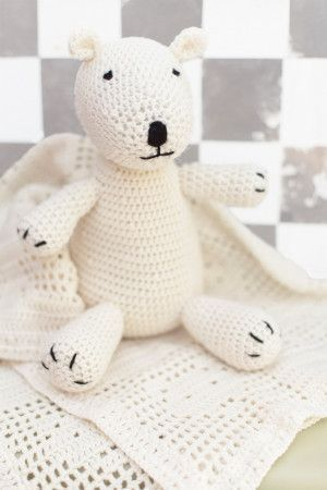 Baby Teddy Bear And Blanket Set Crochet Patterns - The Knitting Network
