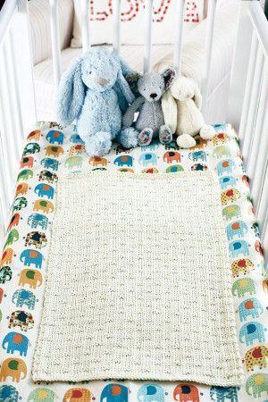 Baby Travel Blanket Knitting Pattern