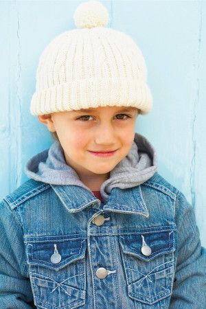 Boys Winter Bobble Hat Knitting Pattern - The Knitting Network