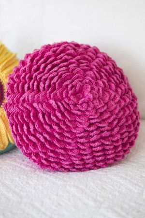 Carnation Cushion Cover Crochet Pattern - The Knitting Network