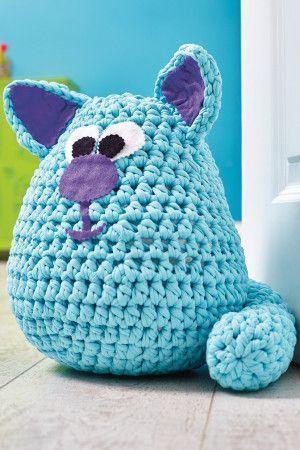 Cat Doorstop Crochet Pattern - The Knitting Network