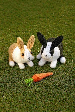 Crochet Amigurumi Bunny Toy Free Patterns Instructions | 450x300