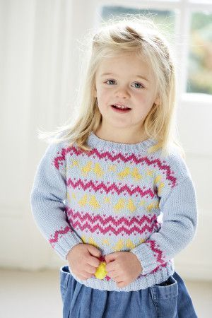 Baby Chicks Fair Isle Sweater