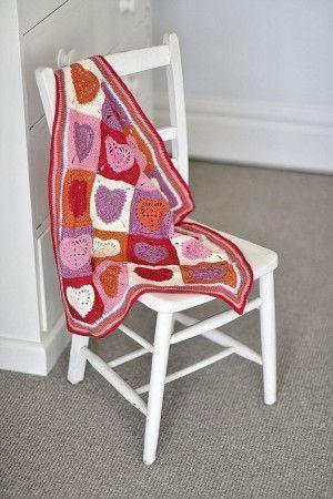 Heart Motif Blanket Crochet Pattern