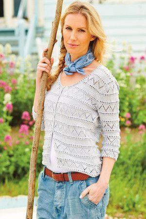Lace Cardigan Ladies Knitting Pattern
