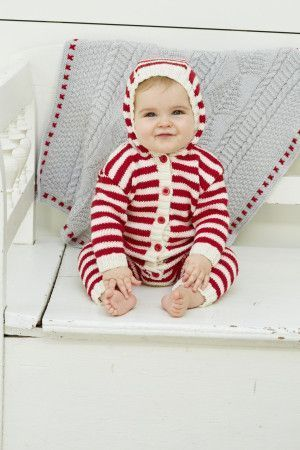 Baby striped hooded onesie with front opening buttons