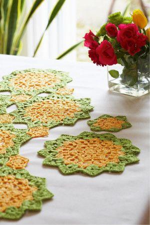 Table Mat, Coaster And Runner Crochet Patterns