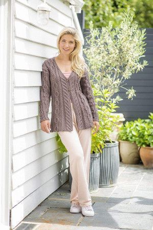 A Line Cable Jacket Knitting Pattern