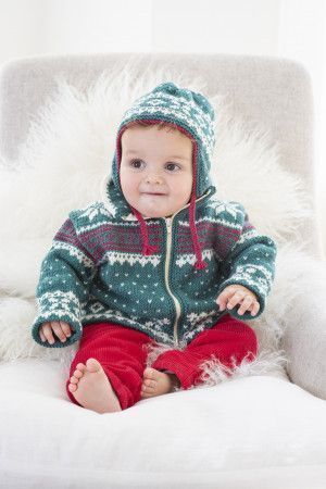 Baby Fair isle Jacket Knitting Pattern