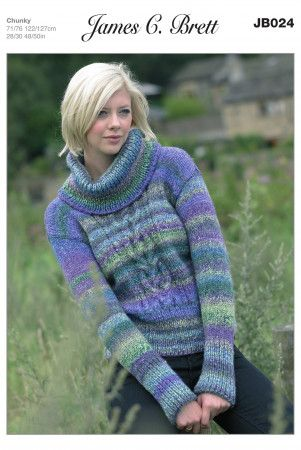 Sweater in James C. Brett Marble Chunky (JB024)