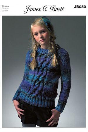 Sweater in James C. Brett Marble Chunky (JB050)