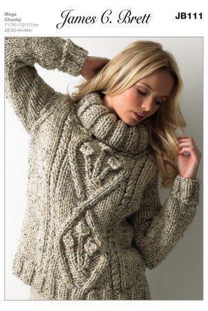 Sweater in James C. Brett Rustic Mega Chunky (JB111)