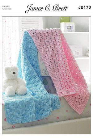 Blankets in James C. Brett Flutterby Chunky (JB173)