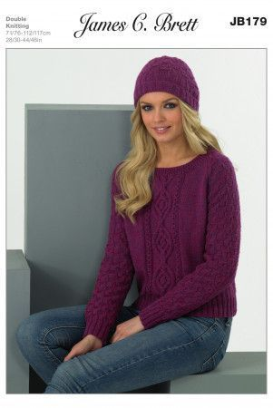 Sweater and Hat in James C. Brett DK with Merino (JB179)