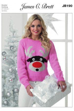 Sweater in James C. Brett Top Value DK (JB190)