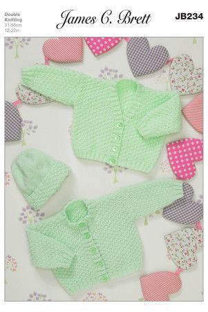 Cardigans and Hat in James C. Brett Baby DK and Twinkle DK (JB234)