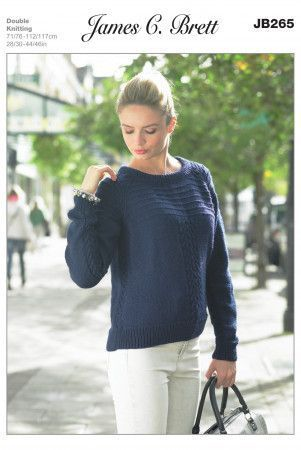 Sweater in James C. Brett DK with Merino (JB265)