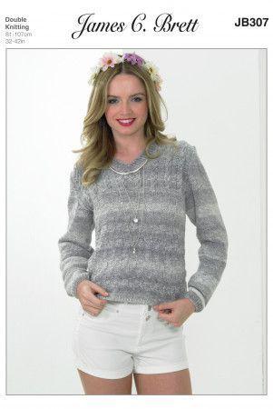 Sweater in James C. Brett Cotton on Denim DK (JB307)