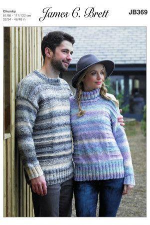 Sweaters in James C. Brett Marble Chunky (JB369)