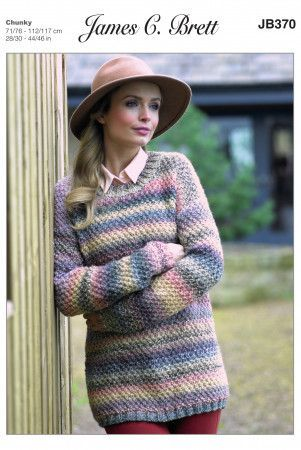 Sweater in James C. Brett Marble Chunky (JB370)
