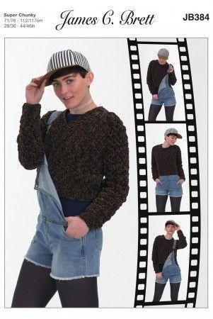 Sweater in James C. Brett Flutterby Animal Prints Super Chunky (JB384)