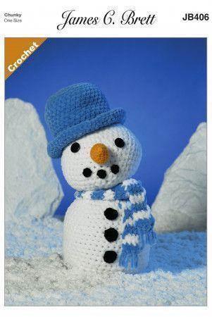 Frosty the Snowman in James C. Brett Flutterby Chunky (JB406)