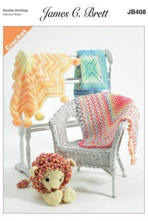 Blankets in James C. Brett Baby Marble DK (JB408)